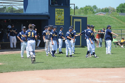 The Mt. Pleasant High School baseball team won its sixth district title in seven years on Saturday, May 31, 2014, with a 6-1 win over Freeland.  Joe Buczek - The Morning Sun