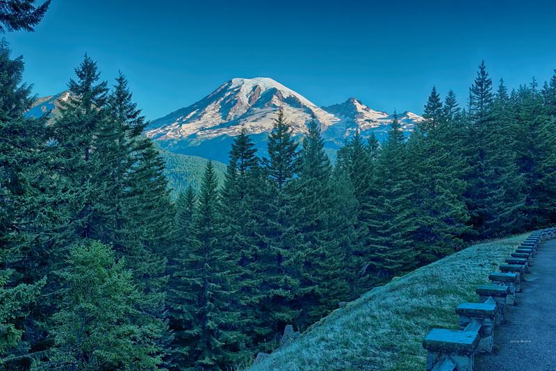 View of Mt. Rainier from Stevens Ridge