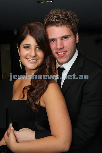 24/11/09. Mt Scopus Graduation Ball 2009. Becky Robinson, Gabe Segal. Photo: Peter Haskin