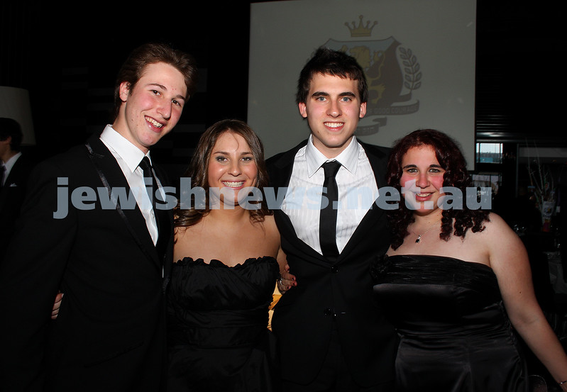 24/11/09. Mt Scopus Graduation Ball 2009. From left: Saul Muscatel, Kate Zielinski, Simon Rosenberg, Merav Chait. Photo: Peter Haskin