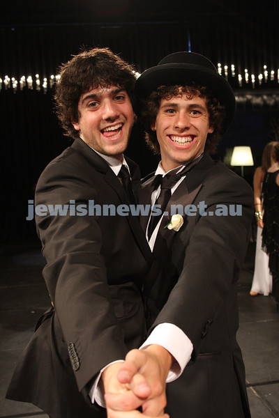 24/11/09. Mt Scopus Graduation Ball 2009. Richard Birman (left), Harley Kras. Photo: Peter Haskin
