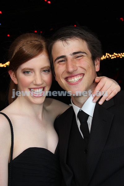24/11/09. Mt Scopus Graduation Ball 2009. Samantha Cahn, Brett Sacks. Photo: Peter Haskin