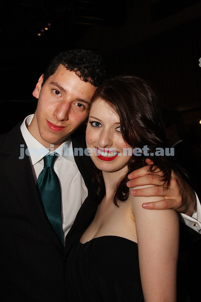 24/11/09. Mt Scopus Graduation Ball 2009. Jordan Kolsky, Leora Light.  Photo: Peter Haskin