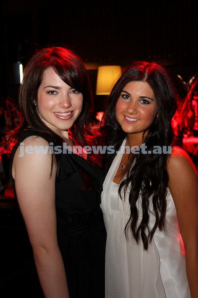 24/11/09. Mt Scopus Graduation Ball 2009. Elly Mainzer (left), Tarryn Simms. Photo: Peter Haskin