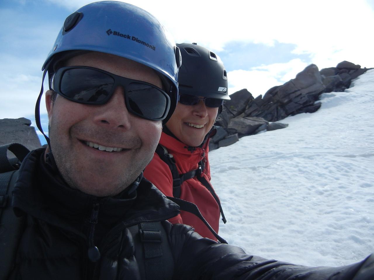 KK and PB on Mt Shasta