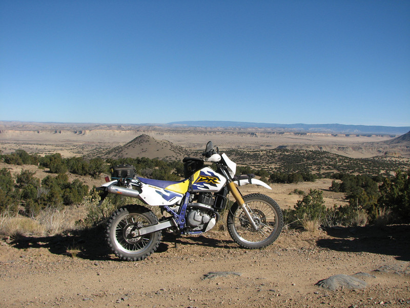Kinda like my recent purchase.  1998 DR650.  This was a perfect ride for it.  Nothing too technical.  And the slab back to Albuquerque was not so bad.