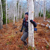 Marty doing a little tree hugging...love those birches