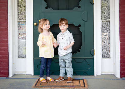 twins at the door! (5 of 5)