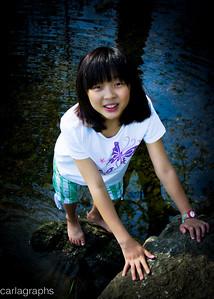 Sarah in water-