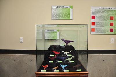 5 - Origami Tyrannosaurs Display