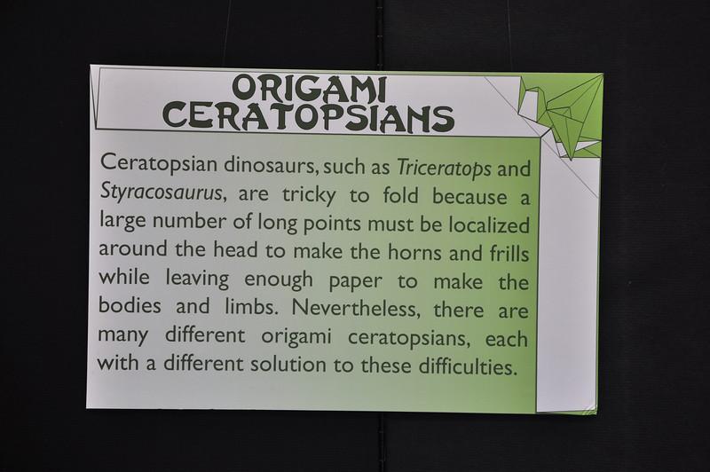 7a - Origami Ceratopsians Sign