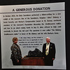 """Jinks"" Dabney and his wife, donor of the replica to the St. George Dinosaur Discovery Site at Johnson Farm."