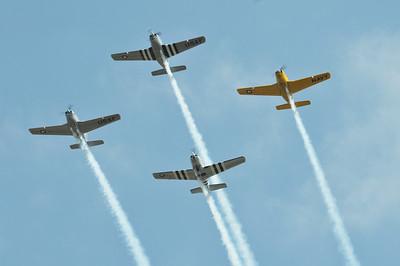 Warbirds flyover