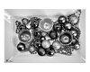 Day 092: Baubles in Black & White<br /> <br /> Again, this table piece is lovely from any angle, I think this photo is also beautiful in black & white. Maybe it's the contrast in colors and textures.