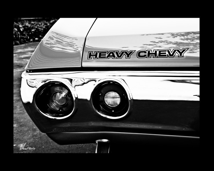Day 097: Heavy Chevy in Black & White<br /> <br /> Photographing this car in black & white just seems natural as it is a vintage 1972 model.