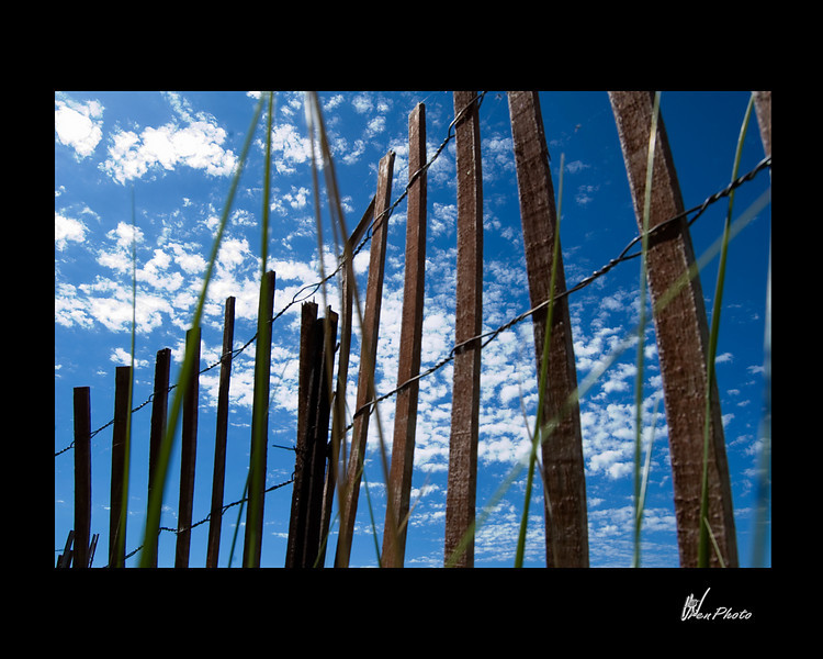 Day 026: Fenced in Blue Sky