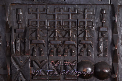African carved window