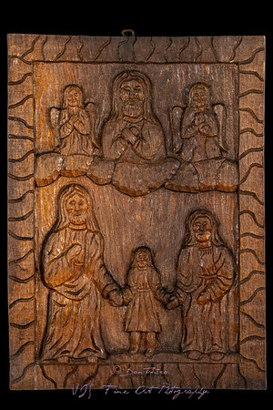 Presentation of the Blessed Virgin Mary Naive Wood Bas Relief