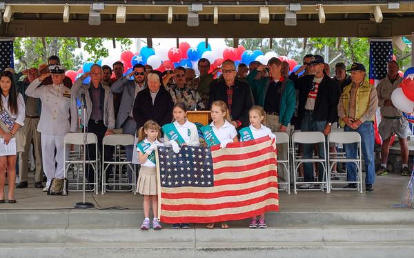 La Canada Flintridge, California Memorial Day 2015 celebration