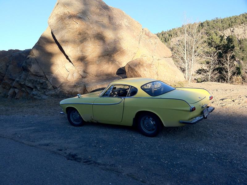 My 66 Volvo P1800S on Peak to Peak Hwy. above Boulder, CO