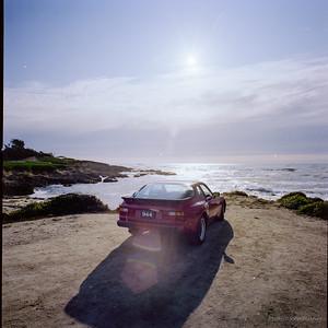 Porsche 944 at 17 Mile Drive, Monterey County, California