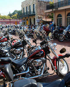 We went to Jefferson,Texas this weekend to the Boo Benefit. They raise money for burn victims...I have never seen so many motorcycles in my life.This was just one street and not even half of it...they had another 3 or 4 streets blocked off for all the motorcycles,plus some parking lots.