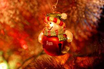I didn't have time for any shots today..so this was a quick one! My own little personalized snowman! The hair underneath it is a bear, incase you were wondering! Its a big black bear holding a christmas tree.