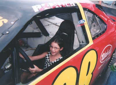 Dreaming of age 16, lol ! Susie at Kentucky Speedway