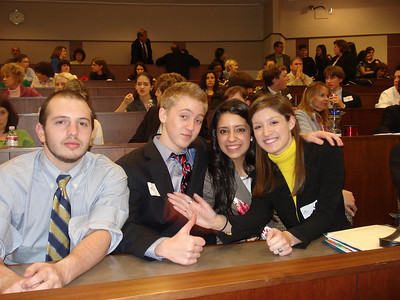 Susie, in yellow, wins her first mock trial as as a defense attorney.