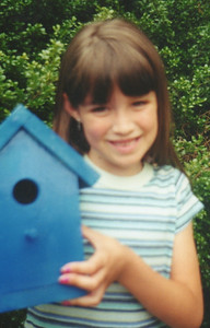 Susie completed her first bird house