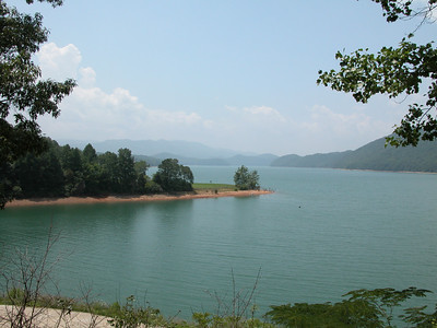 Watauga Lake on Lakeview Drive between Butler and Mountain City, TN.