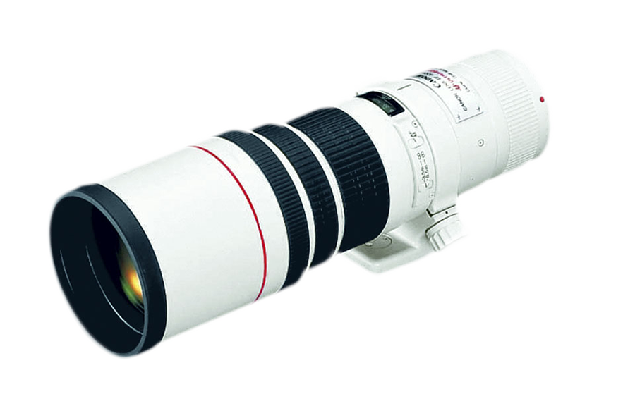 Canon's 400mm 5.6 prime, is a high-performance lens designed for portability and handling ease. The lens has a built-in hood and a detachable tripod mount.  It certainly produces sharp images.  Works especially well for handheld avian flight images due to its light weight.  The only con about this lens is its limiting f5.6 opening.