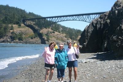 Mom, Cathy & Deb Deception Point Whidbey Island, Washington, USA July, 2007