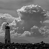 I think this presents well in monochrome. Whenever I see interesting cloud formations, I think monochrome! It's all about the contrast.