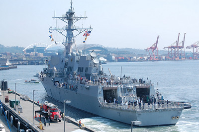 USS Kidd At Fleet Week In Seattle