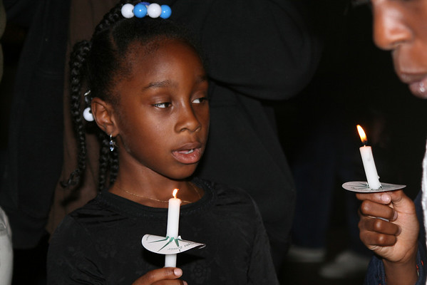 Lighting candles for Obama<br /> Nov  2008