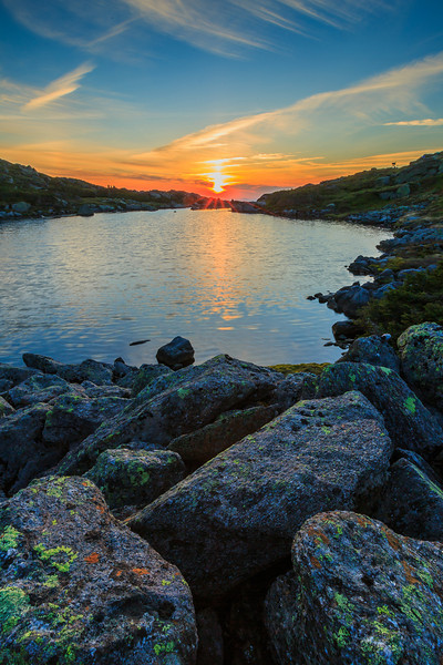 Sunset at the Lakes of the Clouds in the White Mountains, NH