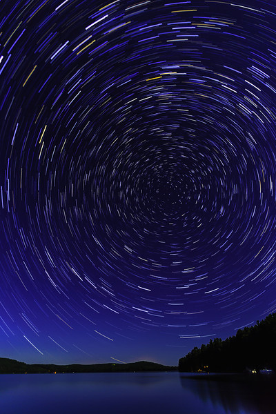 Star trails above Belgrade Lakes, Maine<br /> This image won 1st prize in the Scenics and Nature category of the Appalachian Mountain Club 2014 Photo Contest