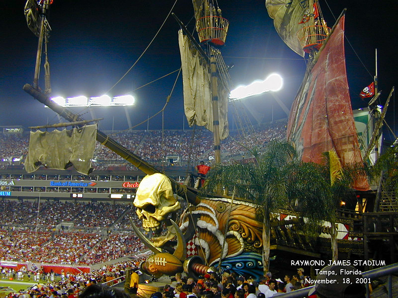 Pirate Ship, Raymond James Stadium, Tampa<br /> <br /> One of my favorite pictures, Larry Trzaskus