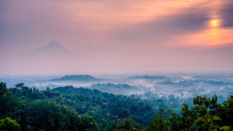 Merapi and Borobudur