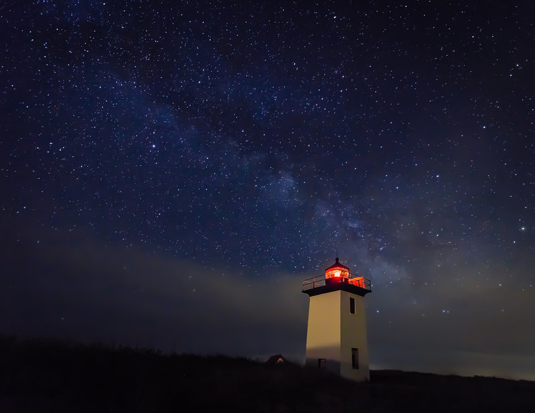 Milkyway over the Long Point Lighthouse in Provincetown, Cape Cod, MA