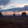 Sunrise over the Mittens and Merrick Buttes, Monument Valley, Navajo Tribal Park, Arizona