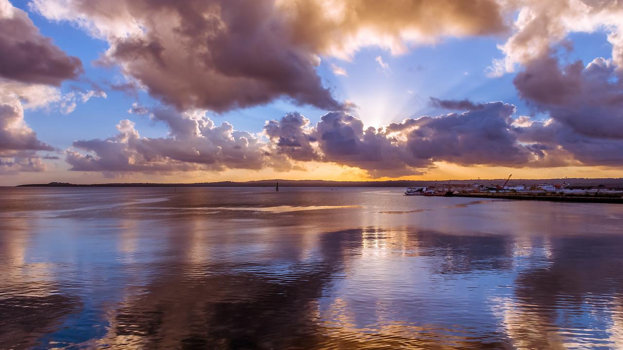 Sunset at Port of Saumlaki