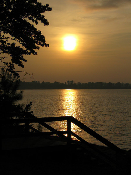 """This was sunrise at the girl scout camp when we went to the family camp out.  I took this with my """"point & shoot"""" so not bad if I say so myself."""