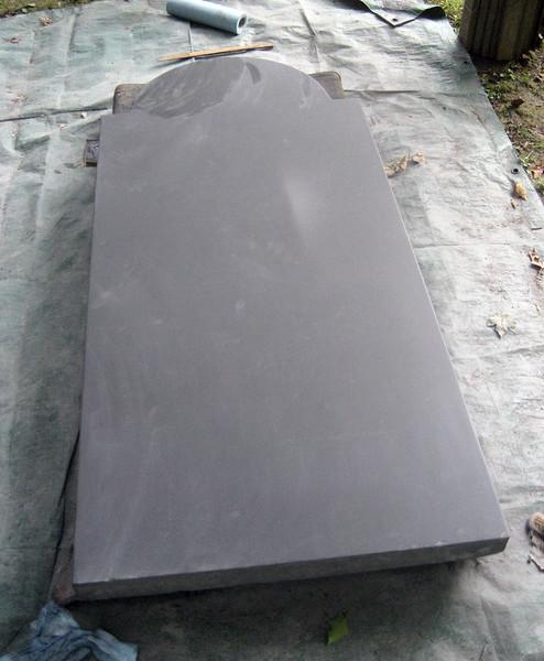 Preparing the Pennsylvania Black Slate blank. August 19, 2013. 1695.