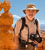 A passer by photographed me with my Panasonic LX1 point and shoot camera as I was desending into Bryce canyon.