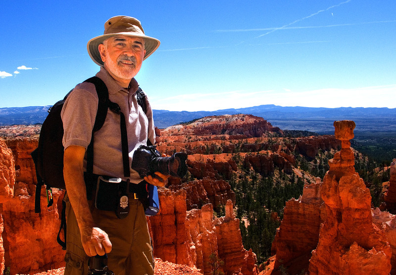 Me at Bryce.  Photo taken with my LX1 by a passer by.