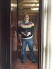 Selfie of My new Icelandic sweater made by Agla Kjartansdohir