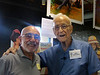 Niel Montanus and myself at Niel's Kodak Panorama gallery show at High Falls gallery, July 21, 2012.  (I had 3 images in the show also.)  Niel and I went on scuba diving off the Isla Mujeres in 1972.  What an experience!  Image was taken with an old cell phone camera.
