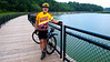 On one of my bike rides along the Genesee River in Charlotte.